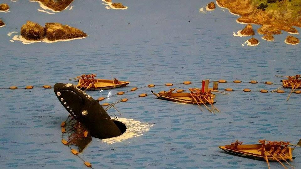 reconstitution chasse à la baleine au japon